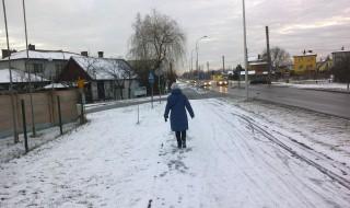 chodniki jak tor lodowy