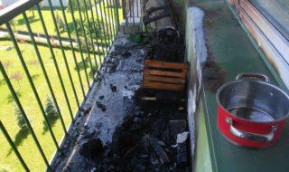 balkon w ogniu