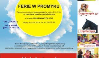 Plakat Ferie w Promyku