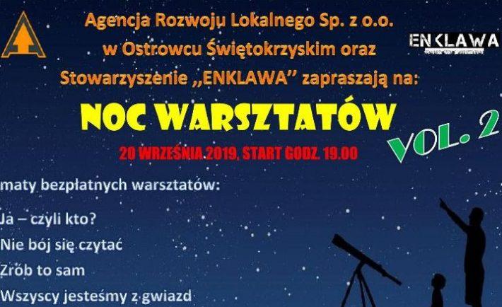 Plakat — Noc Warsztatów